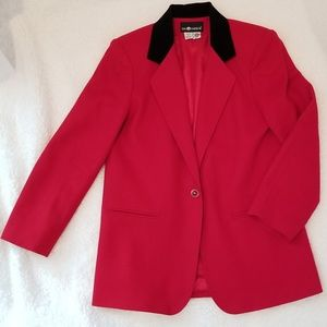 💋 Showstopper Red Blazer Jacket